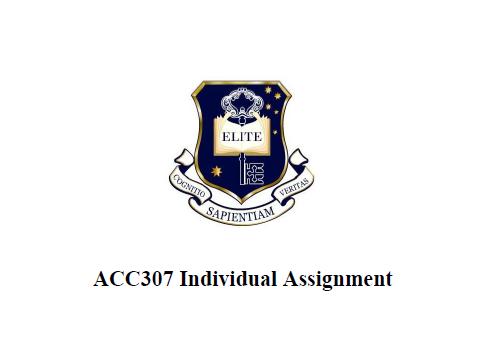 ACC307 Report
