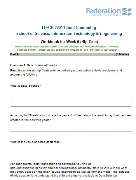 ITECH 2201 Cloud Computing